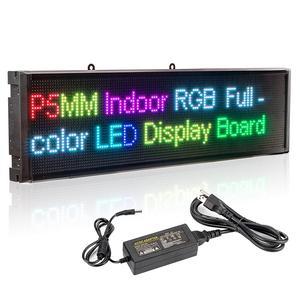 Image 2 - P5 sinais LED Smd RGB Módulo Full Color interior Wi fi Programável Rolagem Mensagem de Exibição vitrine Placa EUA plug UE