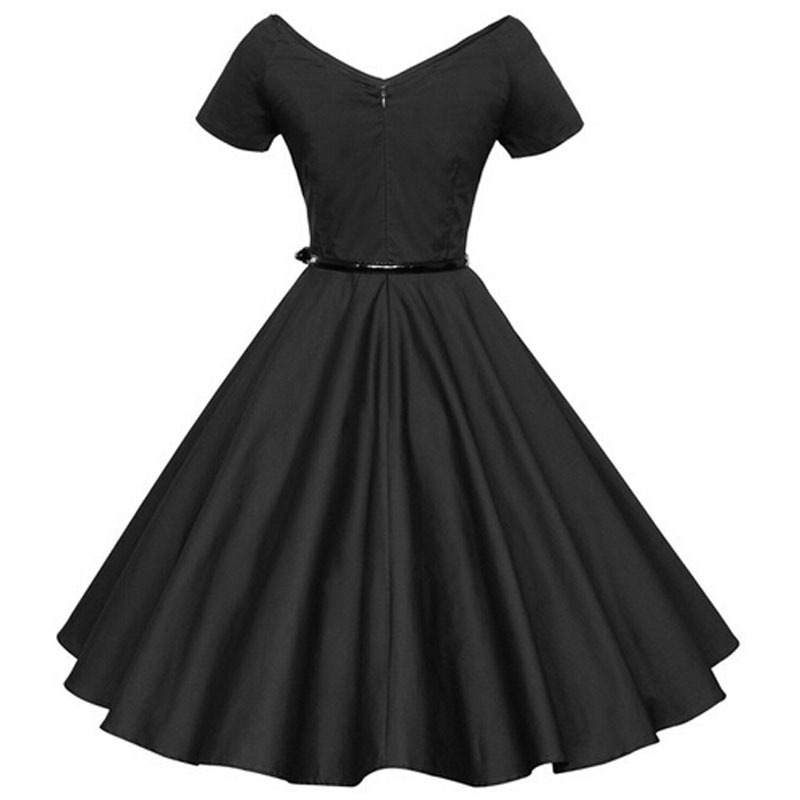 0574e93d707 Women Audrey  Hepburn 1950s 60s Vintage Retro Style Sexy Pin up Rockabilly  Swing 50s Wedding Party Dresses red black royal blue