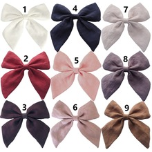 ETALLEG 20 pcs/lot 4.5 inch Sailor Hair Clips Women Girls Fabric Hair Bow Barrettes