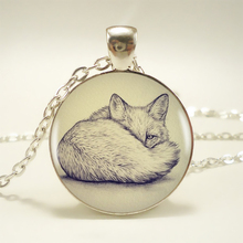 1pcs Fox Pendant Choker Statement Silver Necklace For Women Dress Accessories-Abaicer Jewelry – 001 HZ1