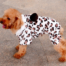 Special offer to buy 2015 new products sell like hot cakes pet clothes fashion winter four legs a pullover leopard print fleece