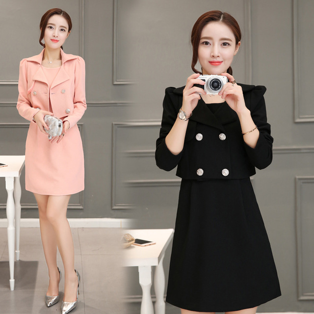 2017 Autumn And Spring Women Elegant Dress Suits Casual Formal