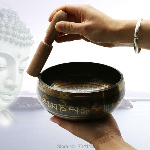 Buddhist temple supplies home feng shui ornaments Nepal Tibetan Buddha sound Prayer bowl therapy yoga bowl copper alms bowl