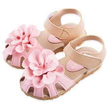 Skidproof прохладно цветочный сандалии принцесса искусственная летом красоты девочки симпатичные дизайн