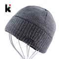 2017 Mens Skullies Autumn And Winter Beanie Hat Knitted Wool Men Cap Skullies Bonnet Hats For Men Toucas De Inverno