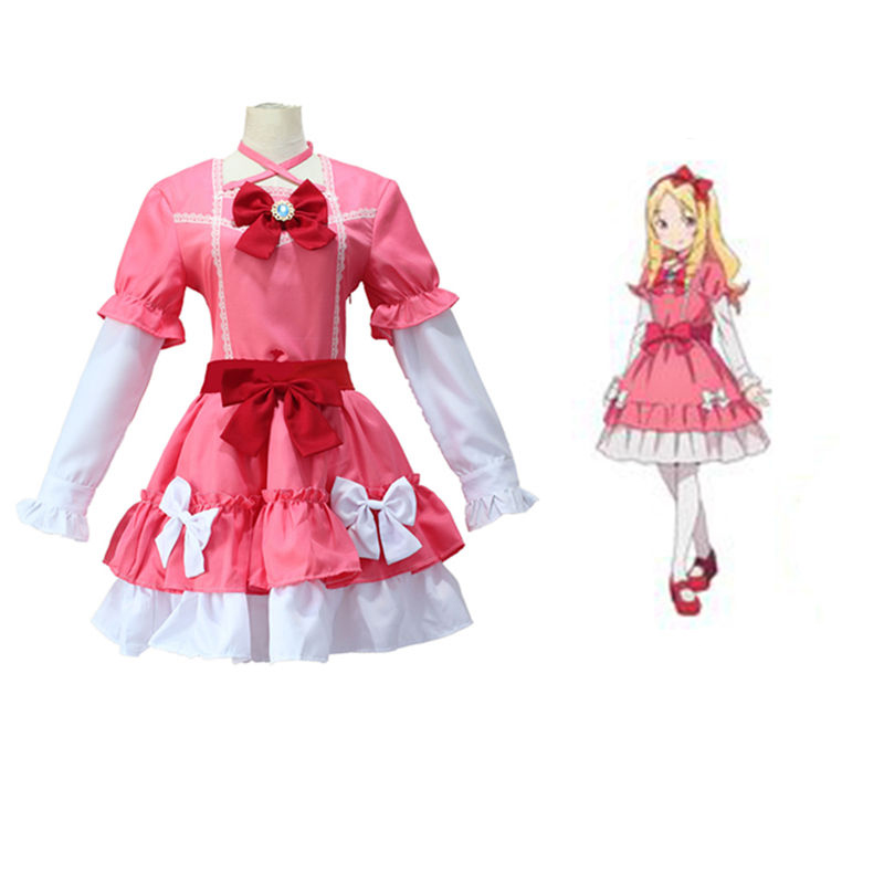 Anime Eromanga Sensei Cosplay Costume  Yamada Elf Pink Lolita  Dress Women Halloween Fancy Party D047100