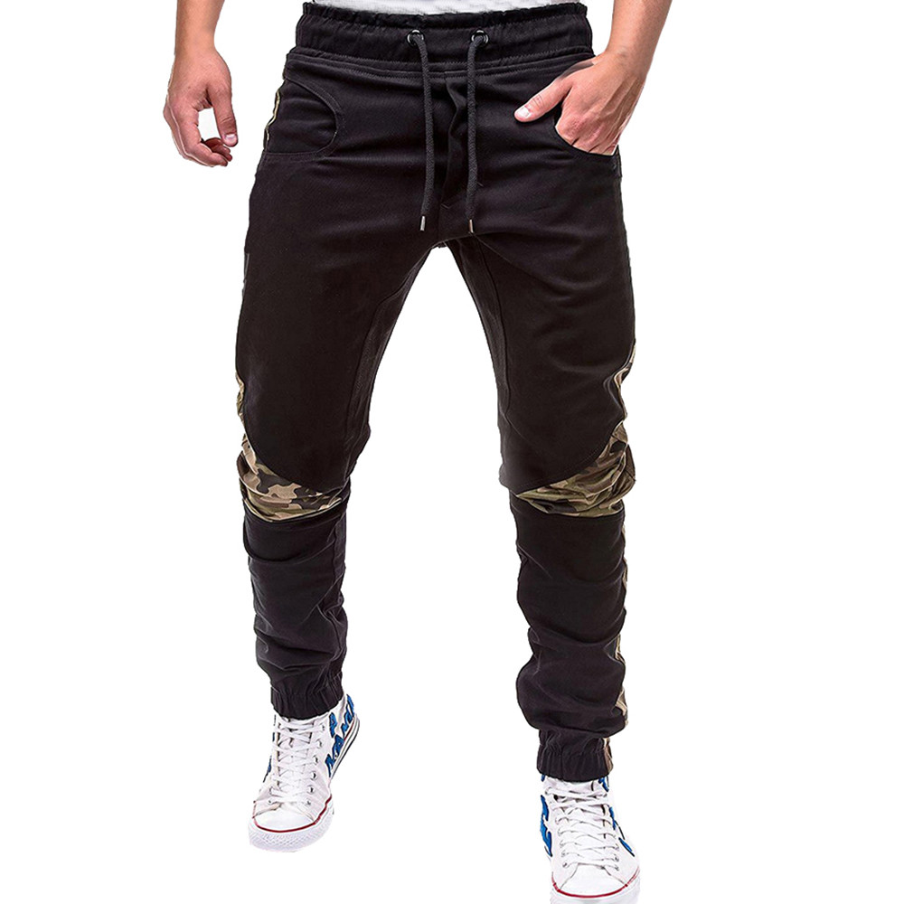 Pants Long-Trousers Slim-Fit Cargos Elastic-Waist Hombre Male Casual Fashion Men's Summer