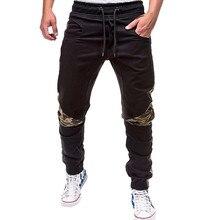 Spring Summer Men's Pants Casual Elastic Waist Slim fit Long Trousers Fashion Male Sweatpants Cargos pantalones hombre W620