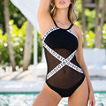Vessos Women One Piece Bikini 2017 Maternity Mesh Hollow Swimwear Biquini Praia