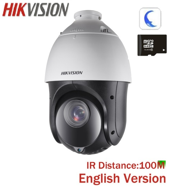 US $237 0 |Hikvision DS 2DE4215IW DE 2MP Outdoor 100 Meters IR PTZ 15X  Optical Zoom Multiple Language Support POE H 265-in Surveillance Cameras  from
