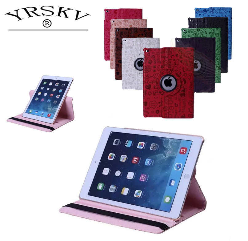 Case for iPad Air/Air 2 /for iPad 9.7 inch 2017/2018 YRSKV 360 Little Witch PU Leather Rotating Smart Stand Tablet Tablet Case universal pu leather case for 9 7 inch 10 inch 10 1 inch tablet pc stand cover for ipad 2 3 4 air 2 for samsung lenovo tablets