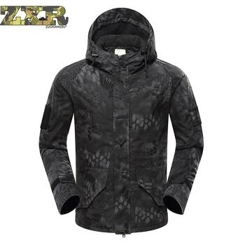 Winter Men's Military Camouflage Fleece Jacket Army Tactical Clothing Man Camouflage Jackets Outdoor Male Warm Tactical Jackets