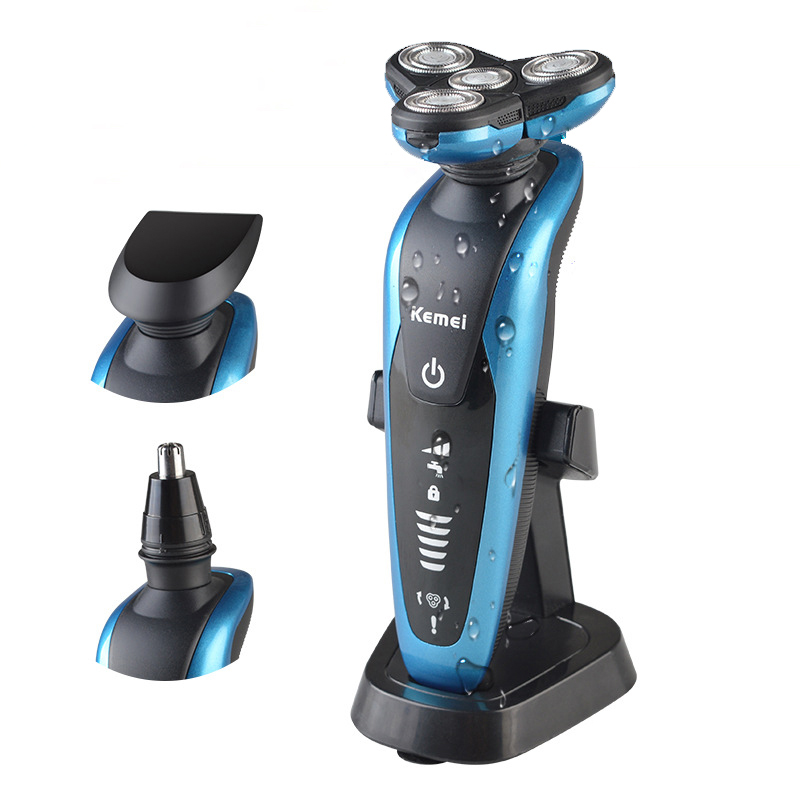 kemei men shaving machine nose ears hairs trimmer barbeador 3 in 1 washable r. Black Bedroom Furniture Sets. Home Design Ideas