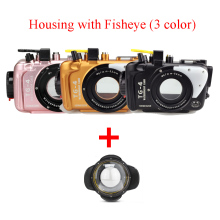 Seafrogs 100m/325ft Underwater Diving Camera case Waterproof Housing Aluminum Case for OLYMPUS TG4 w/ Fisheye,3 colors