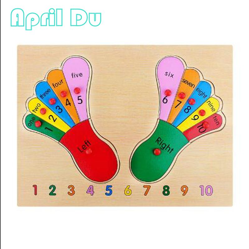 Апрель du Новый Учим цифры вручную palm Интеллект головоломки левой и правой ноги детей Игрушечные лошадки