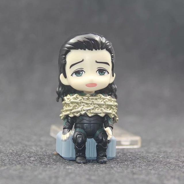 Anime Marvel Avengers Loki in Movie Thor Nendoroid 866 Cute Kawaii Super Hero 10cm Action Figure Toys 3