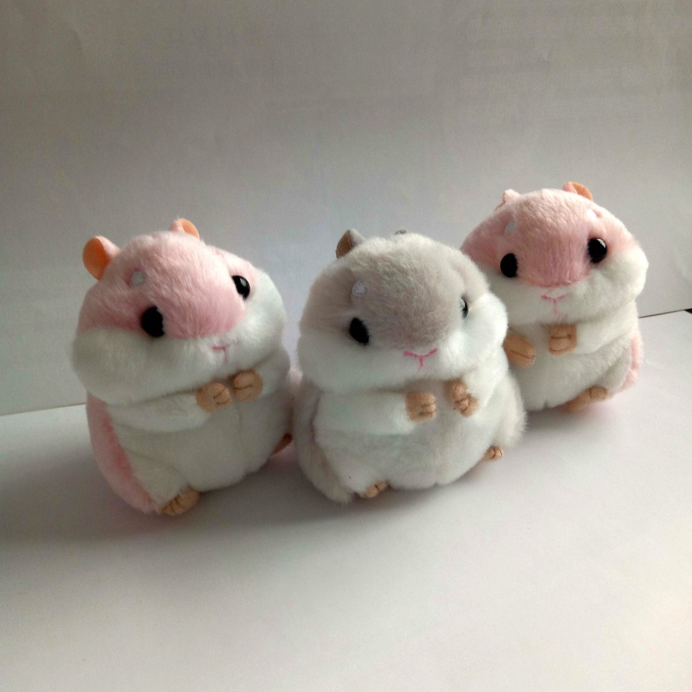 2017 trinket Mini Hamster Pom Pom KeyChains Women fluffy Bunny  Hamster Toy Doll Bag Car Key Ring Monster Keychain Jewelry Gift