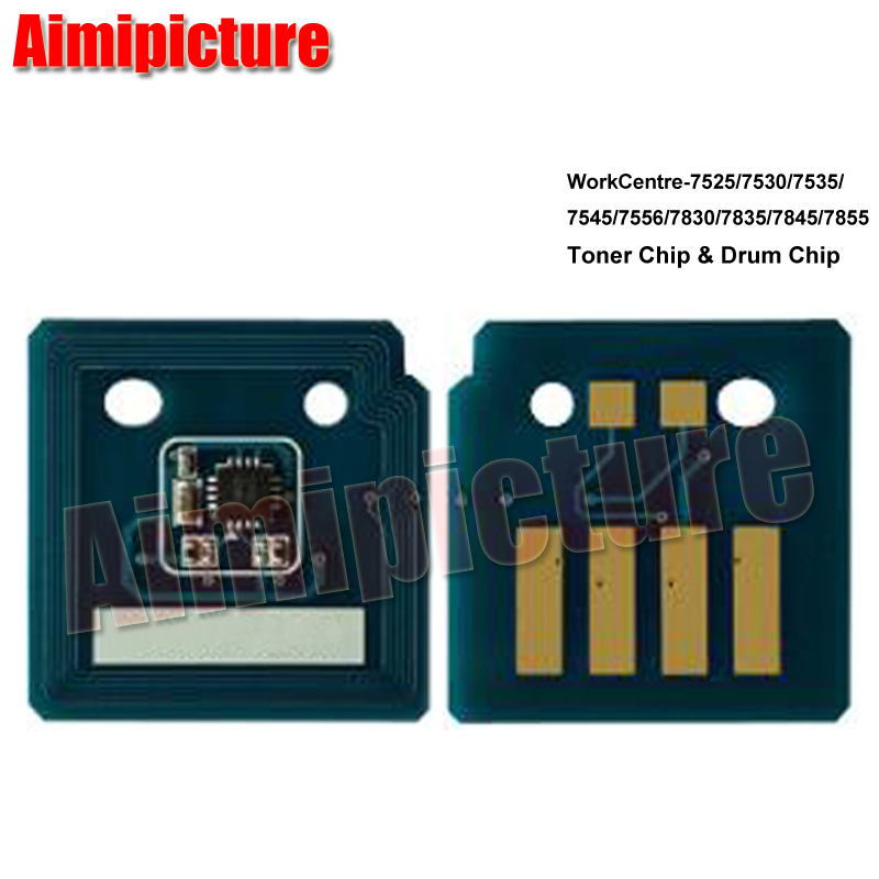 4 pcs Drum Reset Chips for Xerox WorkCentre 7525 7530 7535 7545 7556 013R00662
