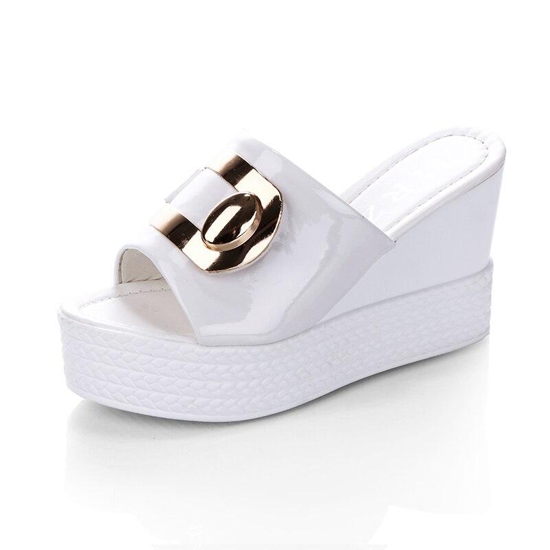 HTB1CEYTBL5TBuNjSspmq6yDRVXaY 2018 Summer New style Arrived Sexy Platform Wedges Sandals Women Fashion High Heels Female Slippers a634