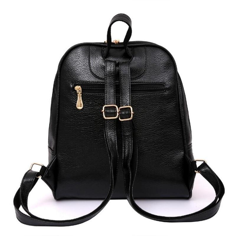 Panta shpine lëkure, çanta të rrumbullakëta të stilit të - Çantë e shpinës - Foto 5