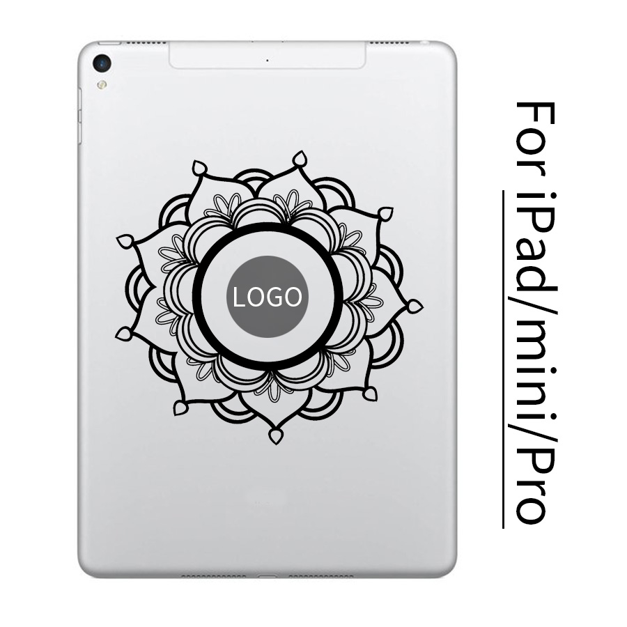 Mandala Flower Tablet PC Vinyl Sticker for font b Apple b font iPad Decal Air Pro