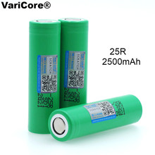 VariCore 18650 2500 mAh Rechargeable battery 3.6V INR1865025R 20A discharge batteries For E cigarette use