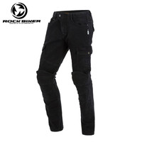 Rock Biker Motorcycle Jeans Rider Protective Motorcycle Jeans Skinny Moto Racing Pants 73722 With Detachable CE Protector