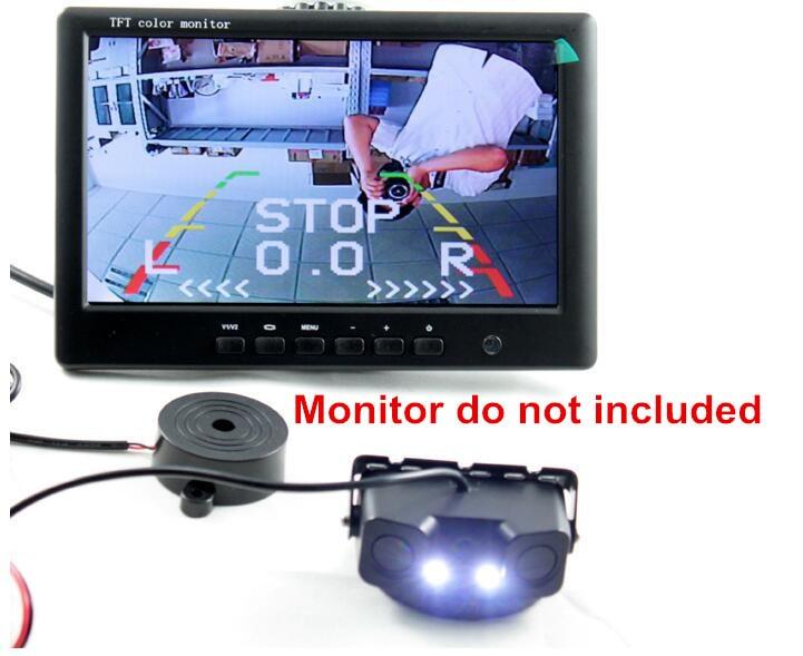 Бесплатная доставка монитор камеры парковка 2 датчик + 1 камера заднего вида для подключения монитора/DVD монитор парковочная камера датчик