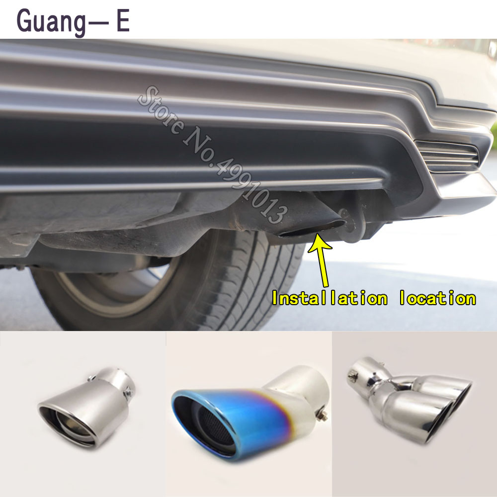 car stickers cover muffler exterior back end pipe dedicate exhaust tip tail outlet ornament 1pcs For LEXUS RX RX570 2013 2019|Exhaust Manifolds| |  - title=