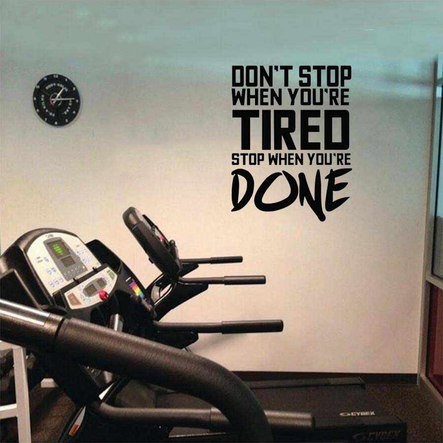 Fitness Sport Exercises Wall Sticker inspirational quotes beast mode on  wall decals for Gym room boys room decoration