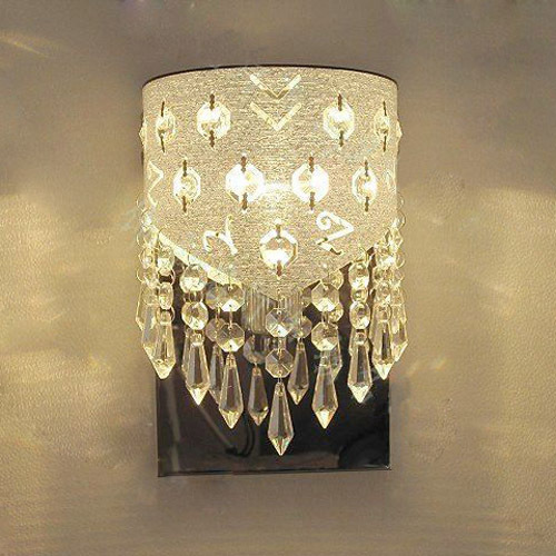 Modern European acrylic crystal bedroom wall lamp stainless steel base wall lamp balcony wall lamp corridor Hallway wall lamp цена