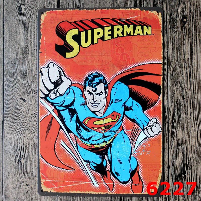 <font><b>SPIDER</b></font> MAN / BAT Man Amazing Fantasy Marvel Comics Art Print Poster Vintage Tin Wall Plaque <font><b>Sign</b></font> 20*30 CM