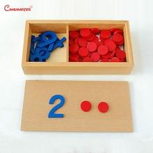 Educational Preschool Game Puzzles Training Math Toy Puzzles Wood Montessori Materials Cards Box Toys 1-10 Numbers MA07-NX3 цена в Москве и Питере