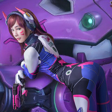 2018 Game OW D.VA Dva Cosplay Costume Hana Song Sexy 3D Printing Lycra Spandex