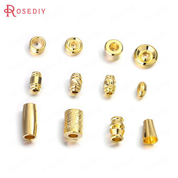 (35743)20PCS 24K Gold Color Brass Spacer Beads Bracelet Beads High Quality Diy Jewelry Findings Accessories 20pcs 4x3mm 24k champagne gold color plated brass beads caps high quality diy jewelry accessories