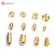 (35743)20 шт 24k золото Цвет медные бусины разделители браслет