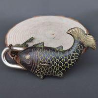 Home Furnishing Decoration Exquisite Chinese Design Lock Decoration Of Chinese Bronze Lock Key Statue