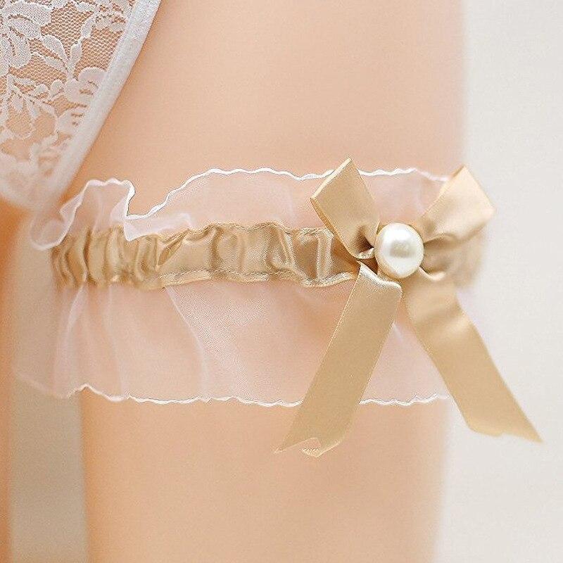 Wedding Garter Pictures: Women Sexy Wedding Garter Pearl Bridal Garter Handmade