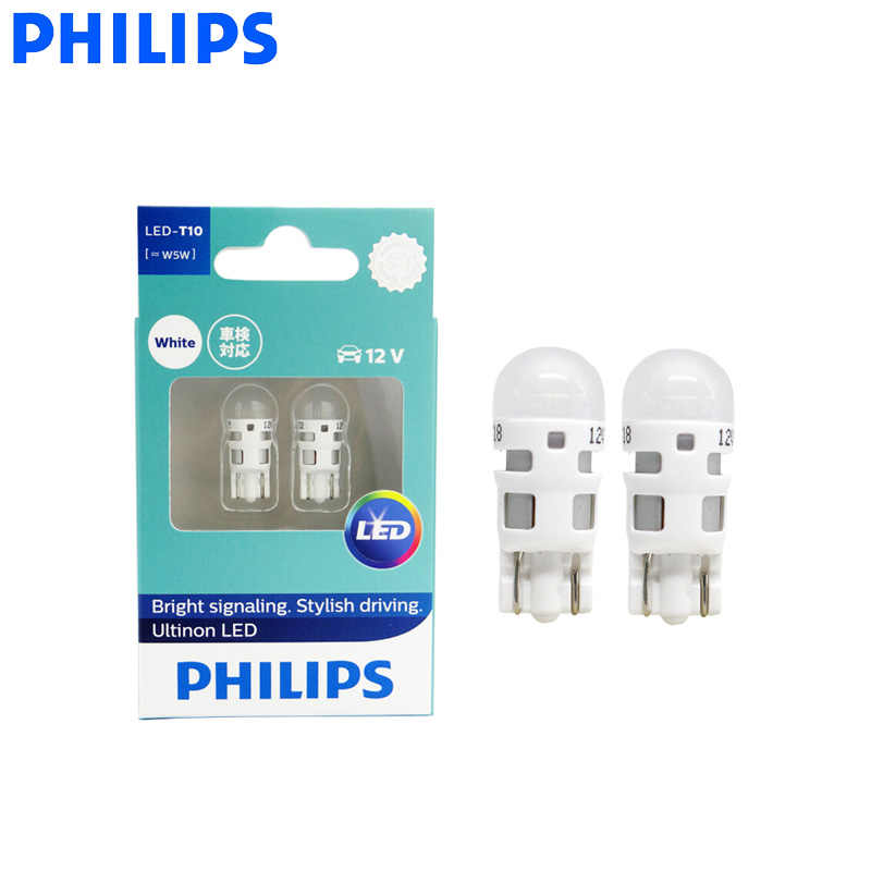 Philips LED W5W W16W W21/5W P21/5W T10 T16 T20 S25 Ultinon LED Light Turn Signal Lamps Interior Light Stylish Driving, Pair