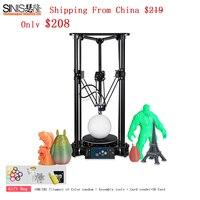 Desktop Delta 3d Printer DIY Kit Sinis 3D Printing Machine With LCD Monitor Screen Aluminum Acrylic High Precision 3d Printer