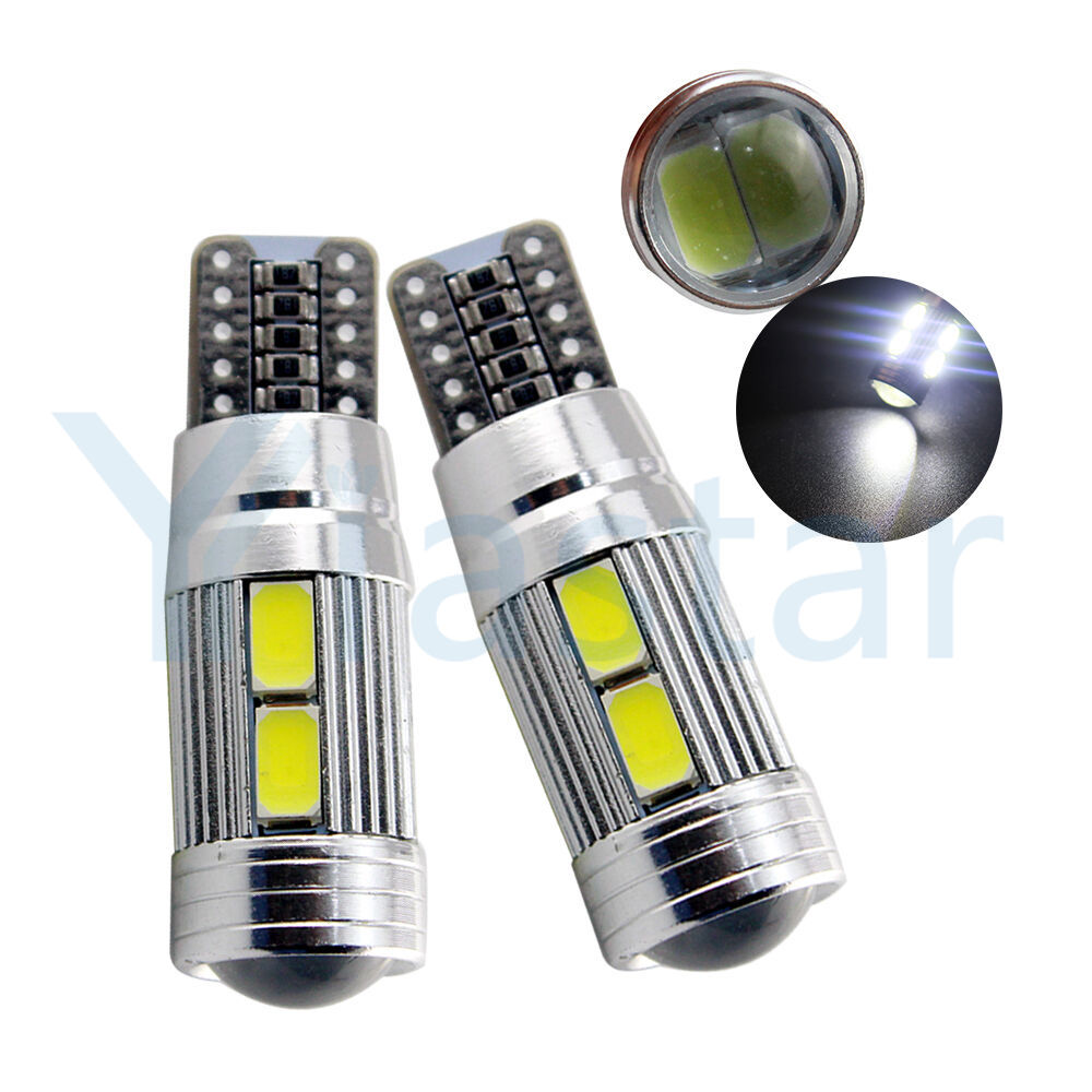 <font><b>100X</b></font> <font><b>T10</b></font> W5W 194 192 158 White Blue 10Led 5630 5730 SMD PCB DC 12v Car Auto Parking Light Led W5W Xenon NO OBC ERROR Side Bulb image