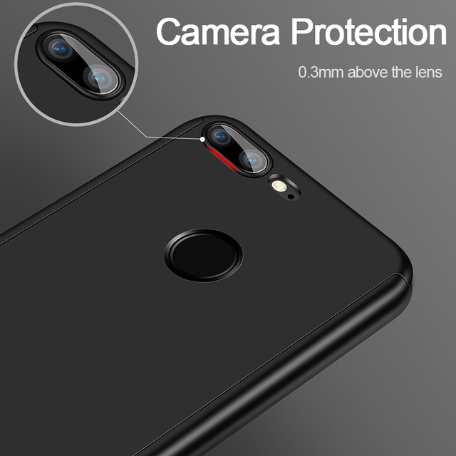 Luxury 360 Full Cover Phone Case For Huawei Honor 10 9 8 Lite Case With Tempered Glass For Honor 8 9 10 Protective Case Cover