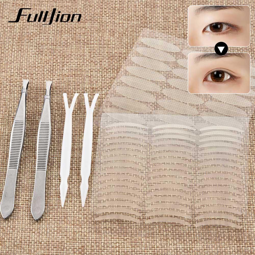 Fulljion 960Pcs Double Eyelid Tape Big Eyes Decoration Stickers Eyelid Paste Instant Eye Lift Self-adhesive Eyes Patches Tape