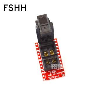 SOT23-6 SOT23-5-DIP Programmer Adapter SOT23 test socket Two placement Flip test seat sot23 5 sot23 6 programmer adapter sot6 sot5 adapter test socket sot23 to dip6 test socket
