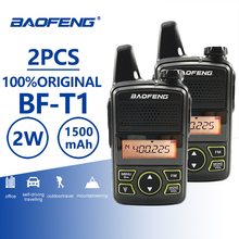 2pcs Baofeng BF-T1 Mini Walkie Talkie UHF 400-470MHz Kids FM Transceiver Radio With PTT Earpiece Child Two Way Comunicador