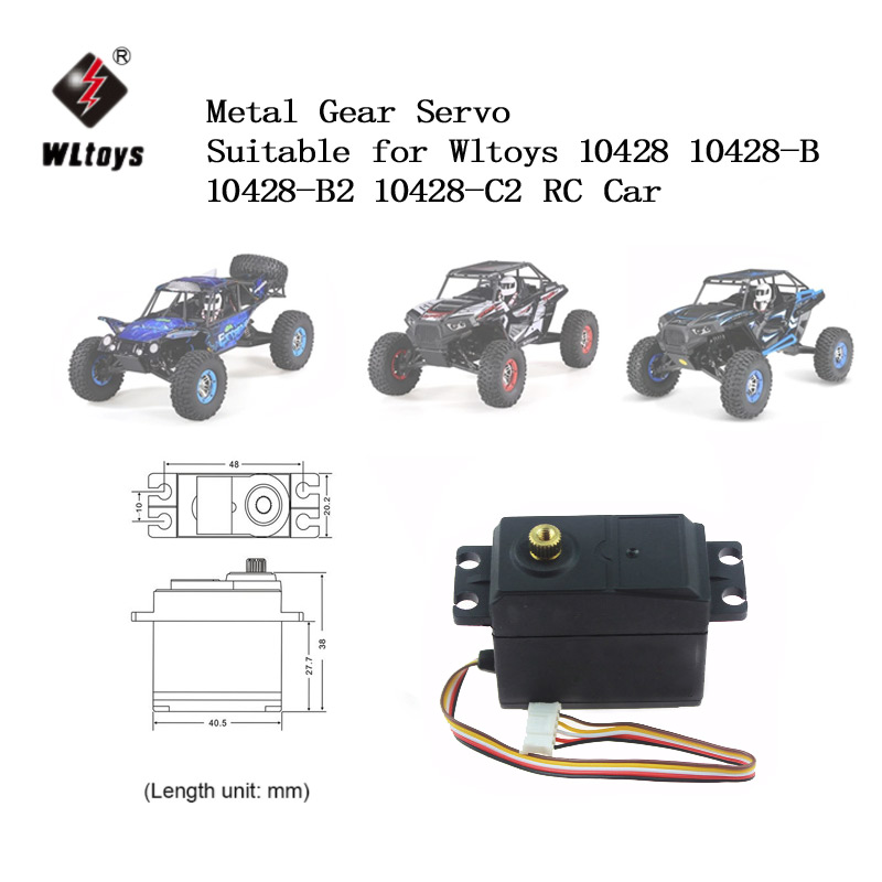 WLtoys 9.4KG Metal Gear Servo for WLtoys 1/10 10428 10428-A 10428-B 10428-B2 10428-C2 RC Car