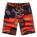 Pantalones Cortos de Lino de los hombres de Gran Tamaño Clásico Estampado de Flores de Diseño de Los Hombres Cortos Hombres Casuales Boardshort Marca Shorts Bermudas Masculina 6XL
