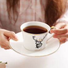 Nordic style zebra elk Bone China coffee cup and saucer sets English high quality phnom penh black tea gift free shipping