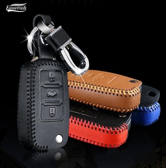 New Gift Leather Key Holder Wallet Case For VW Golf Touran Polo Seat Leon Ibiza Skoda Seat Octavia A5 Rapid Fabia Citigo Yeti