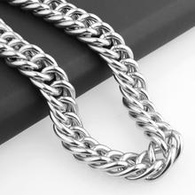 Granny Chic News Arrival 16mm Stainless Steel Curb Cuban Miami Chain Necklace Boys Mens Fashion Jewelry Link Silver